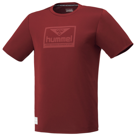 hummel-LIFESTYLE21SShummel PLAY グラフィック Tシャツ ボルドー