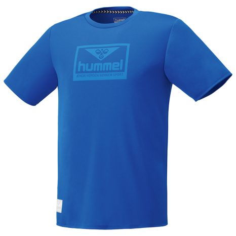 hummel-LIFESTYLE21SShummel PLAY グラフィック Tシャツ ロイヤルブルー