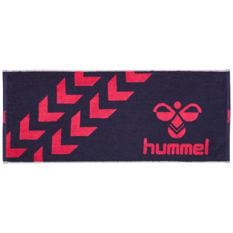 hummel-SPORTSスポーツタオル 紺色×桃色