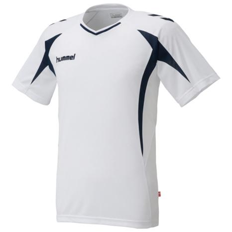 hummel-SPORTSプラクティスシャツ 白×紺色