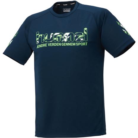hummel-SPORTS21SSプラクティスTシャツ 紺色