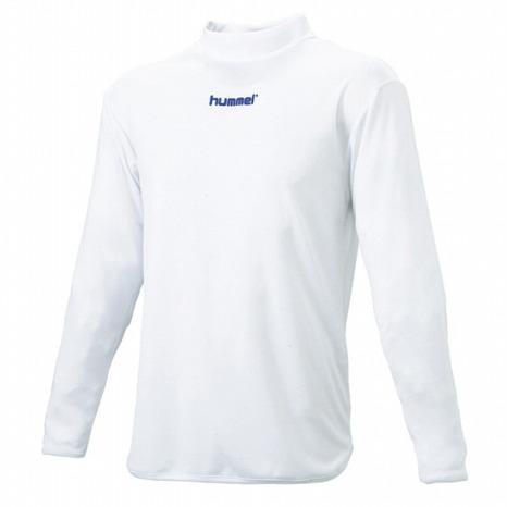 hummel-SPORTSハイネックインナーシャツ 白