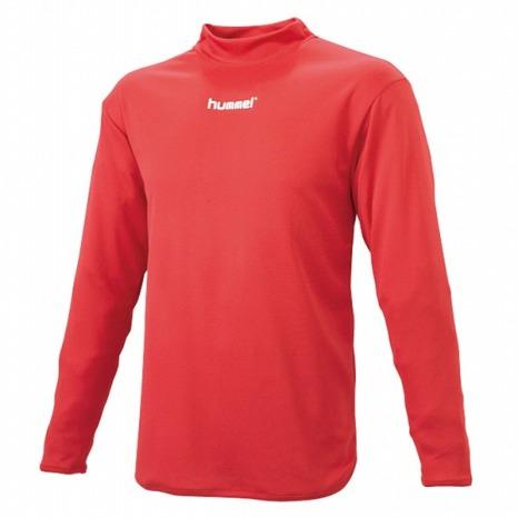 hummel-SPORTSハイネックインナーシャツ 赤