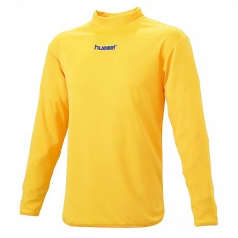 hummel-SPORTSハイネックインナーシャツ 黄色
