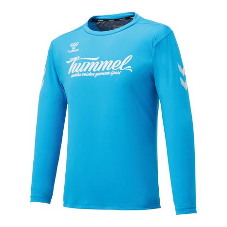 hummel-SPORTSL/Sプラクティスシャツ 青