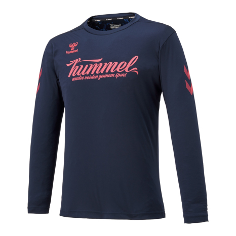 hummel-SPORTSL/Sプラクティスシャツ 紺