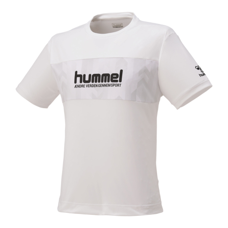 hummel-SPORTSピボットスリーブTシャツ 白