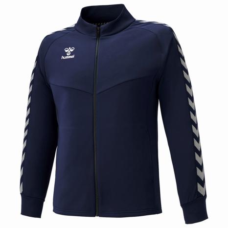 hummel-SPORTS21SSチームウォームアップジャケット 紺色