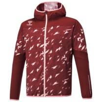hummel21SSIウーヴンフーデッドジャケット 赤