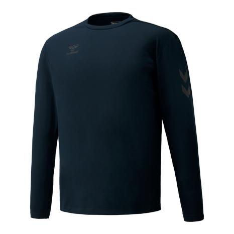 hummel-SPORTSBASIC L/STシャツ 紺