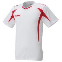 hummel-SPORTSジュニアプラクティスシャツ 白×赤