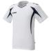 hummel-SPORTSジュニアプラクティスシャツ 白×紺色