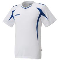 hummel-SPORTSジュニアプラクティスシャツ 白×青