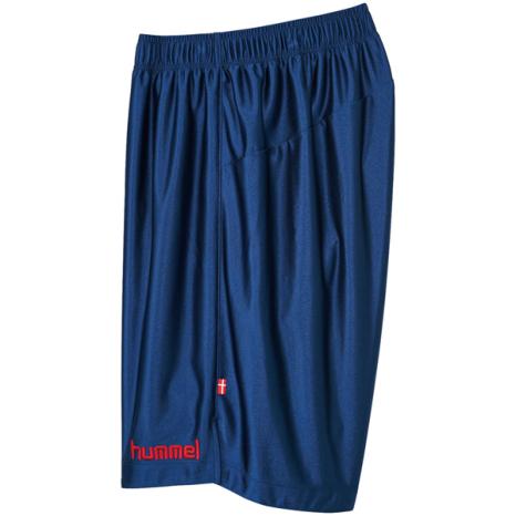 hummel-SPORTSジュニアプラクティスパンツ 紺色×赤