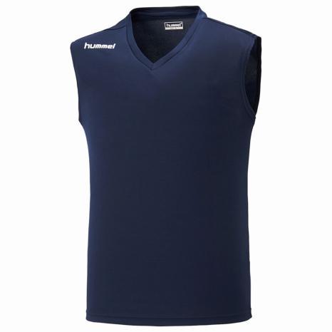 hummel-SPORTS21SSジュニアノースリーブインナーシャツ 紺色