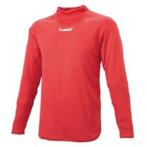 hummel-SPORTSジュニアハイネックインナーシャツ 赤