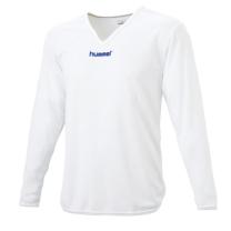 hummel-SPORTSジュニアL/Sインナーシャツ 白