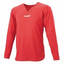 hummel-SPORTSジュニアL/Sインナーシャツ レッド