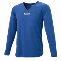hummel-SPORTSジュニアL/Sインナーシャツ ロイヤルブルー