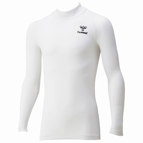 hummel-SPORTS21SSジュニアフィットインナーシャツ 白