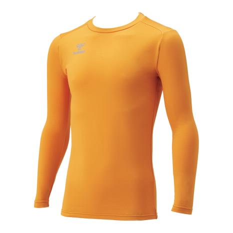 hummel SPORTShummel SPORTSジュニアあったか丸首インナーシャツ 黄色