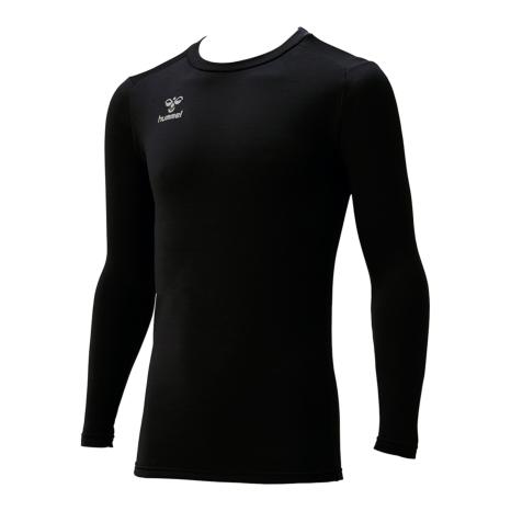 hummel SPORTShummel SPORTSジュニアあったか丸首インナーシャツ 黒