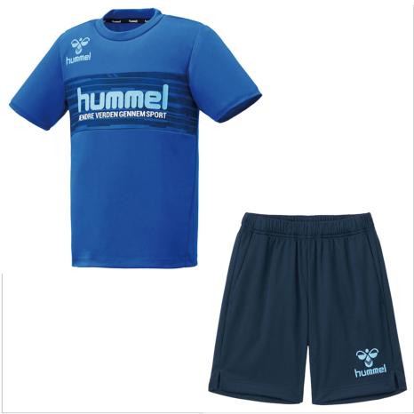 hummel-SPORTS21SSジュニアプラクティススーツ 青