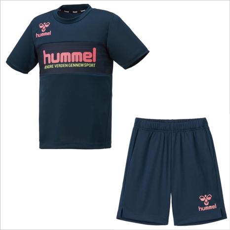 hummel-SPORTS21SSジュニアプラクティススーツ 紺色
