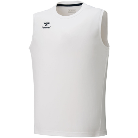 hummel-SPORTS21SSジュニアBASICノースリーブシャツ 白