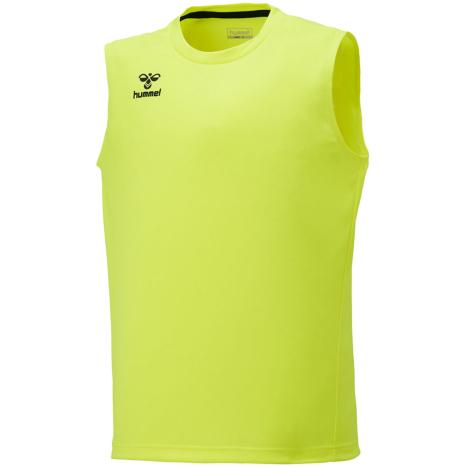 hummel-SPORTS21SSジュニアBASICノースリーブシャツ 黄色