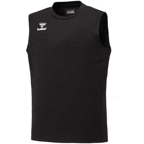 hummel-SPORTS21SSジュニアBASICノースリーブシャツ 黒