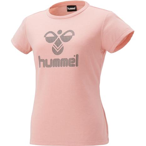 hummel-SPORTS21SSWS半袖Tシャツ 桃色