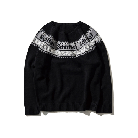 Schoffel (ショッフェル)KNIT SWEATER / BLACK(Unisex)