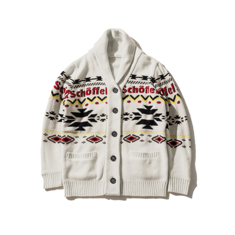 Schoffel (ショッフェル)KNIT CARDIGAN / WHITE(Unisex)