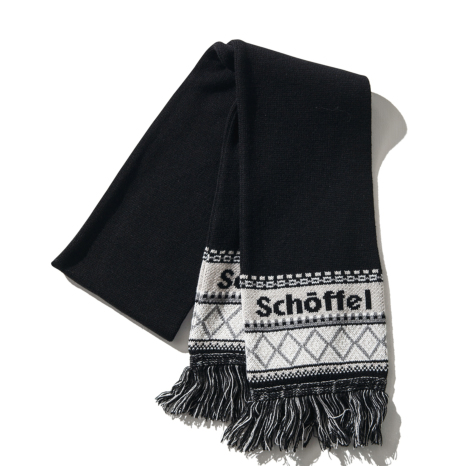 Schoffel (ショッフェル)KNIT SCARF / BLACK(Unisex)