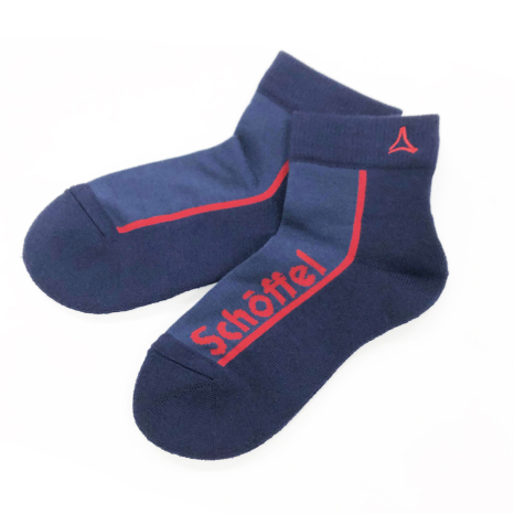 Schoffel (ショッフェル)LOGO SOCKS (SHORT) / NAVY