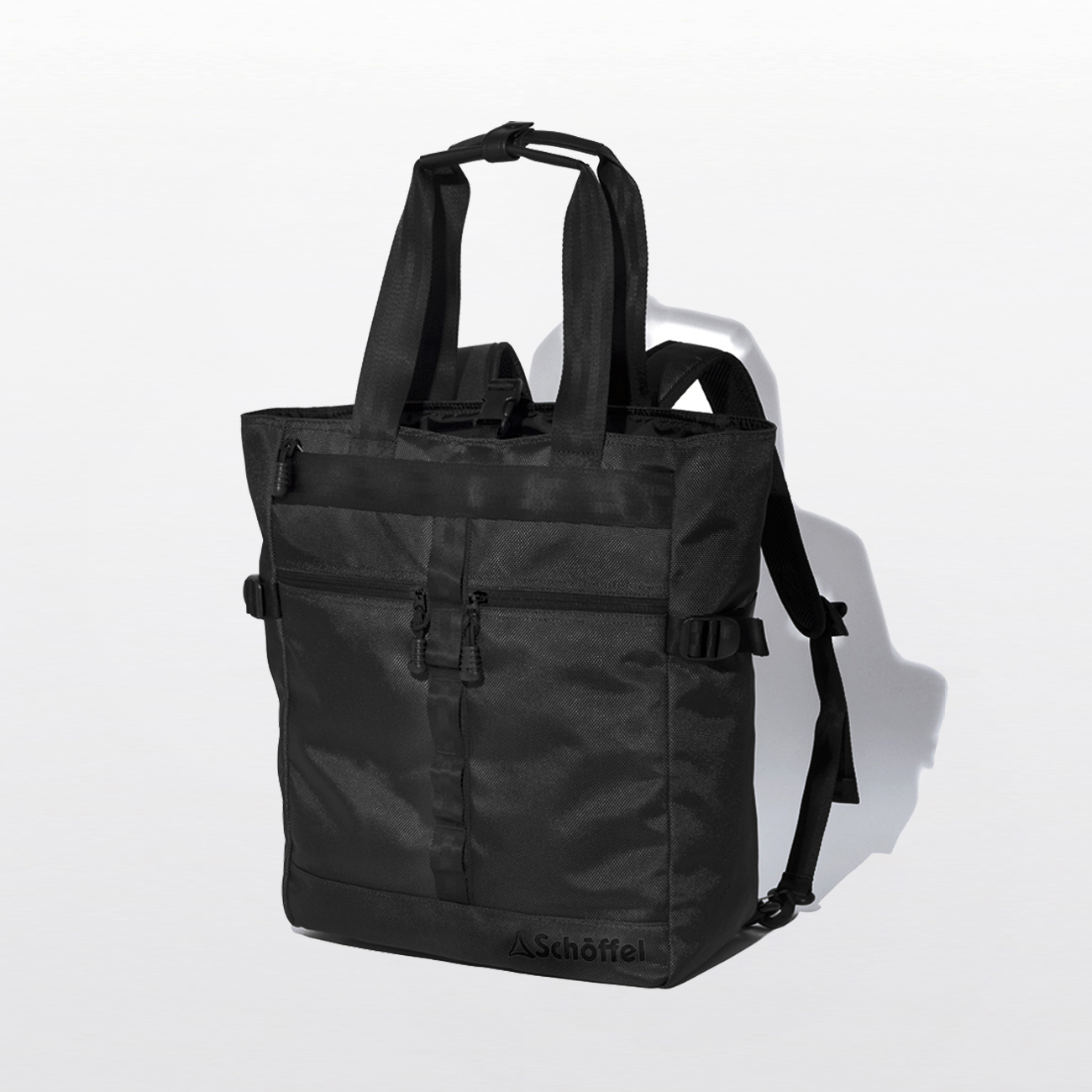 Schoffel (ショッフェル) 2WAY SQUARE TOTE BAG / BLK*BLK(Unisex)