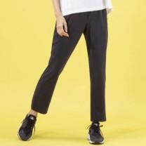 Janestyle(ジェーンスタイル)ベーシッククロスストレートパンツ ブラック