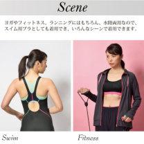 Janestyle(ジェーンスタイル)カラードフィットブラ ネイビー×ピンク ネイビー 紺
