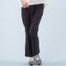 Janestyle(ジェーンスタイル)ストレッチ起毛ストレートパンツ ブラック