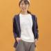 Janestyle(ジェーンスタイル)ストレッチ起毛フードジャケット ブラック