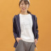 Janestyle(ジェーンスタイル)ストレッチ起毛フードジャケット グレー
