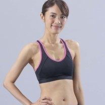 Janestyle(ジェーンスタイル)ファーストスポーツブラ ブラック×ピンク