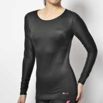 Janestyle(ジェーンスタイル)コンプレッションハイネックシャツ ブラック 黒