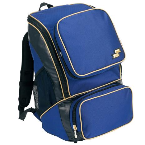 SSKBASEBALLバックパック(ミドルサイズ22L) Dブルー×ゴールド