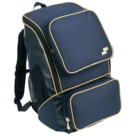 SSKBASEBALLバックパック(ミドルサイズ22L) ネイビー×ゴールド