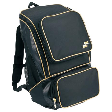 SSKBASEBALLバックパック(ミドルサイズ22L) ブラック×ゴールド