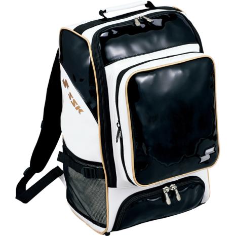 SSKBASEBALLエナメルバッグパック(30L) ブラック×ゴールド