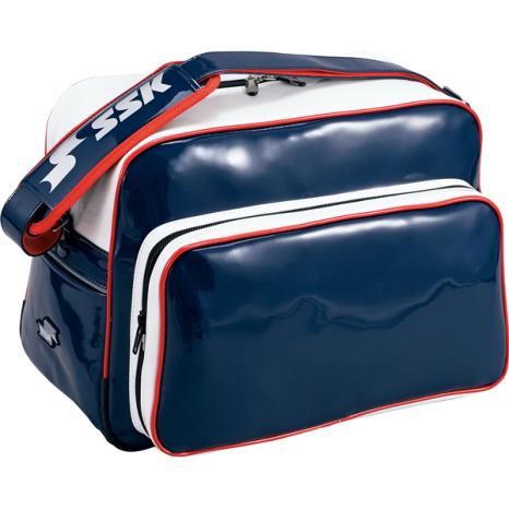 SSKBASEBALLショルダーバッグ(36L) ネイビー×ホワイト×レッド