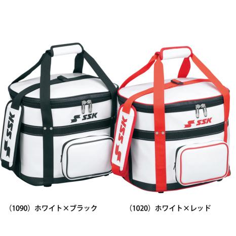 SSKBASEBALLボールバッグ(5ダース用) ホワイト×レッド
